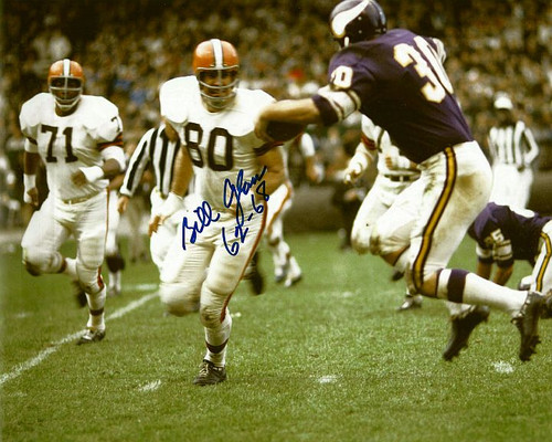 Bill Glass Browns 8-1 Signed 8x10 Photo