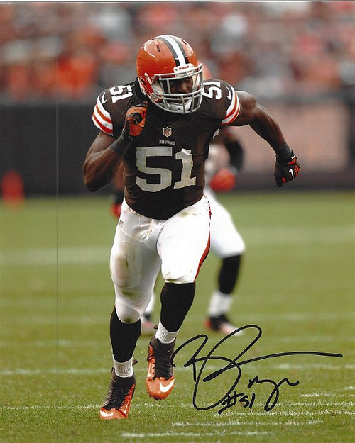 Barkevious Mingo Browns 8-2 Signed 8x10 Photo