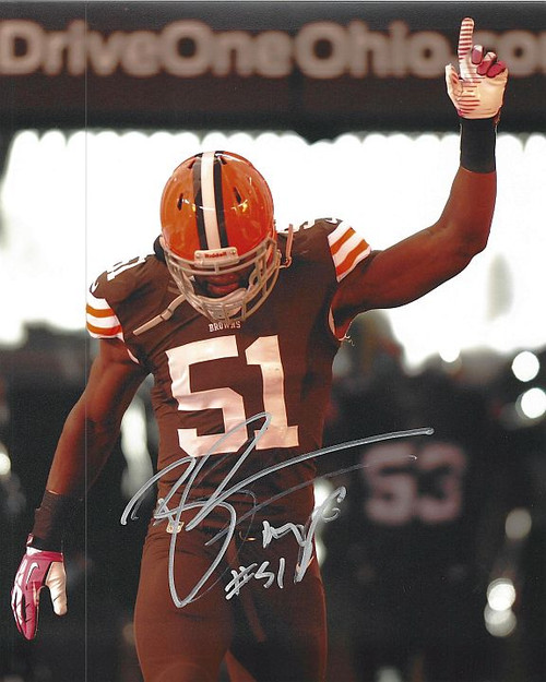 Barkevious Mingo Browns 8-3 Signed 8x10 Photo