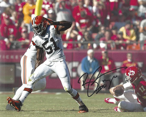 Barkevious Mingo Browns 8-4 Signed 8x10 Photo