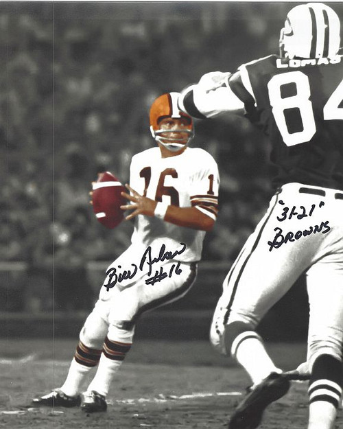 Bill Nelson Browns 8-1 Signed 8x10 Photo