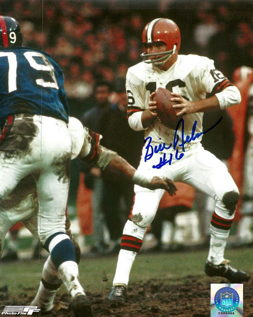 Bill Nelson Browns 8-2 8x10 Autographed Photo - Certified Authentic