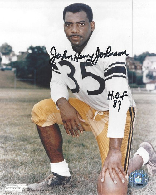 JH Johnson Steelers 8-1 Signed 8x10 Photo
