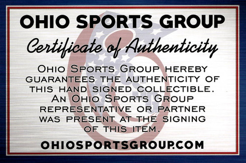 Curtis Samuel Autographed Ohio State Buckeyes Autographed Riddell Silver Speed Mini Helmet - Certified Authentic