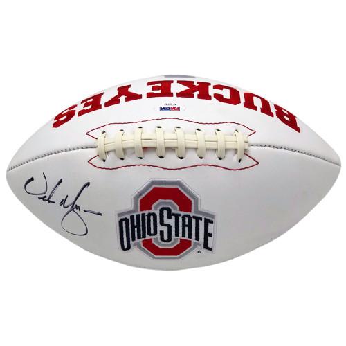 Urban Meyer Autographed Ohio State Buckeyes White Panel Football - Urban Meyer P