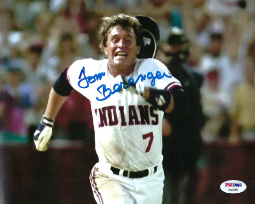 Tom Berenger Indians- Major League 8-7 -PSA Authenticated