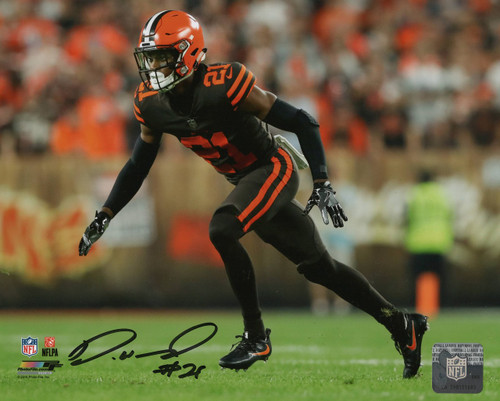 Denzel Ward Cleveland Browns 8x10 Autographed Photo - Certified Authentic