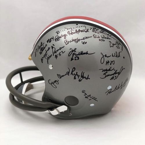 1968 Team OSU Autographed Replica Helmet - Certified Authentic