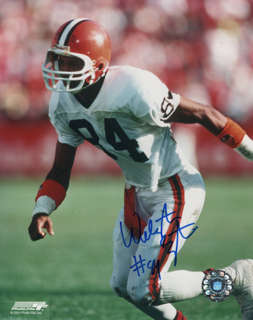 Webster Slaughter Cleveland Browns 8-2 Autographed Photo - Certified Authentic
