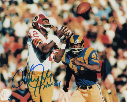Charley Taylor Washington Redskins 8-1 8x10 Autographed Photo - Certified Authentic
