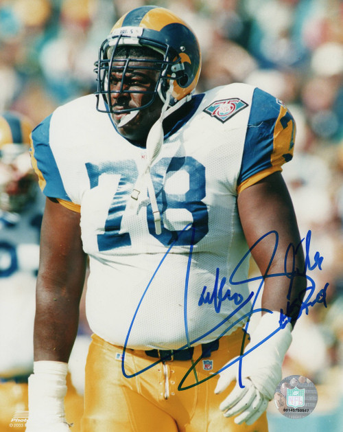 Jackie Slater Los Angeles Rams 8-2 8x10 Autographed Photo - Certified Authentic