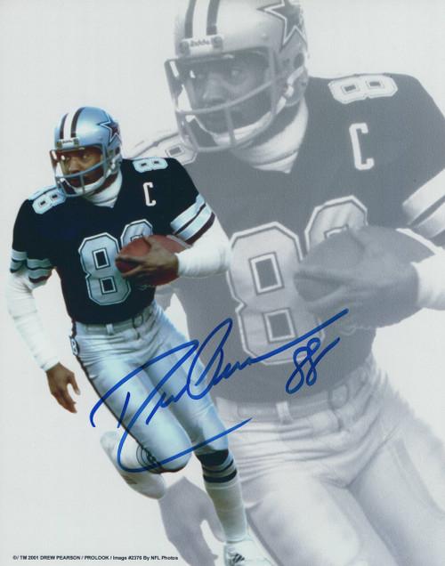 Drew Pearson Dallas Cowboys 8-1 8x10 Autographed Photo - Certified Authentic
