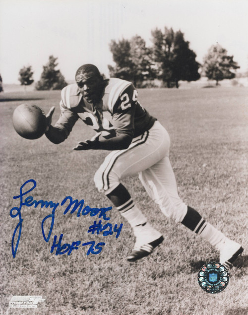 Lenny Moore Baltimore Colts 8-2 8x10 Autographed Photo - Certified Authentic