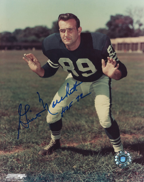 Gino Marchetti Baltimore Colts 8-1 8x10 Autographed Photo - Certified Authentic
