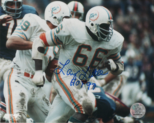 Larry Little Miami Dolphins 8-1 8x10 Autographed Photo - Certified Authentic