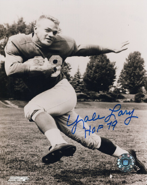 Yale Lary Detroit Lions 8-1 8x10 Autographed Photo - Certified Authentic