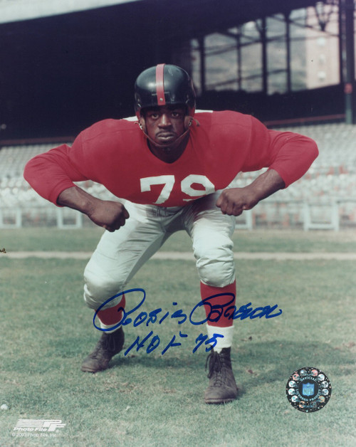Rosey Brown New York Giants 8-1 8x10 Autographed Photo - Certified Authentic