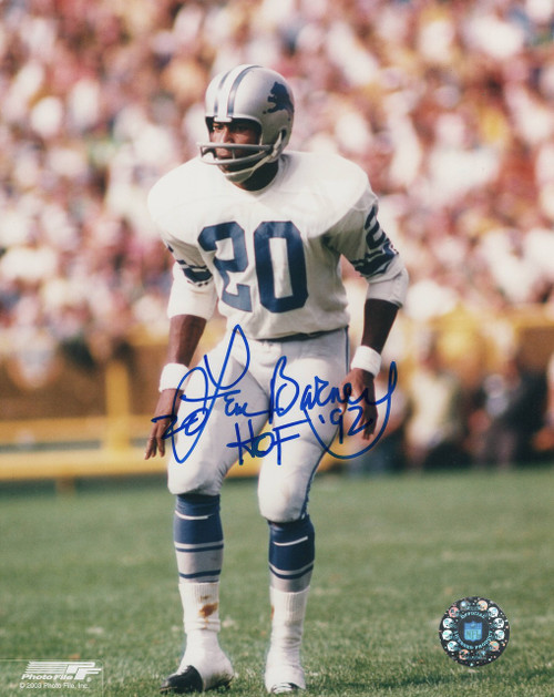 Lem Barney Detroit Lions 8-1 8x10 Autographed Photo - Certified Authentic