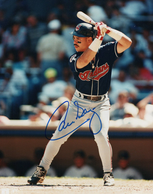 Carlos Baerga Cleveland Indians 8-1 8x10 Autographed Photo - Certified Authentic