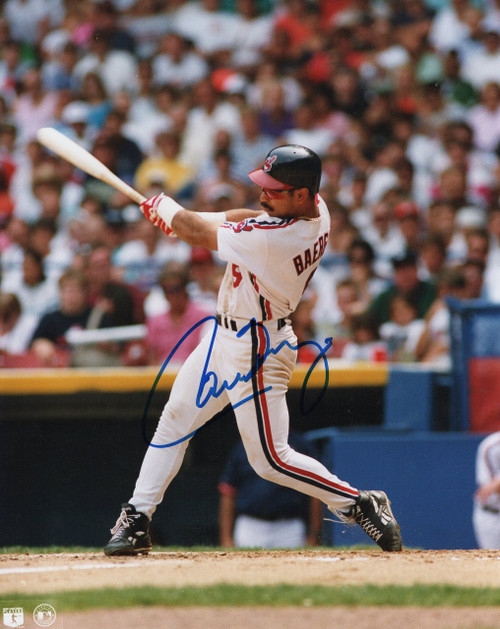 Carlos Baerga Cleveland Indians 8-2 8x10 Autographed Photo - Certified Authentic
