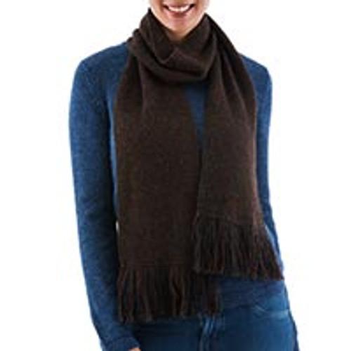 100% alpaca scarf 'Nightland'