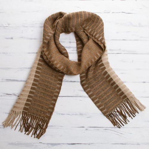100% alpaca men's scarf 'Arequipa Adventure'