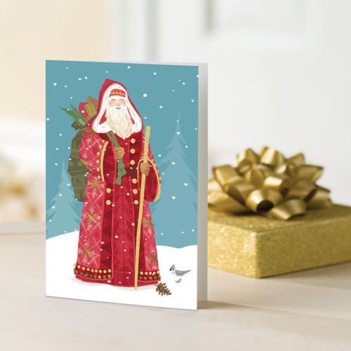 Saint Nick in a Set of 12 UNICEF Greeting Cards 'European Santa'