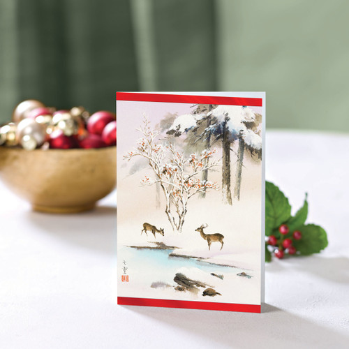 Set of 12 UNICEF Greeting Cards 'Grazing Deer'
