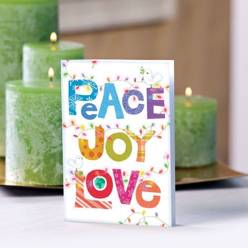 Set of 12 UNICEF Greeting Cards 'Peace, Joy, Love'