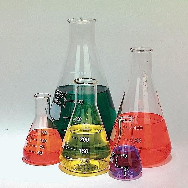 glass erlenmeyer flasks set of 5 50 125 250 500 1000 ml emerald