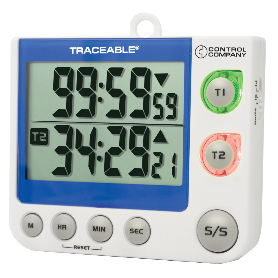 Traceable Flashing LED Alarm Big-Digit Timer