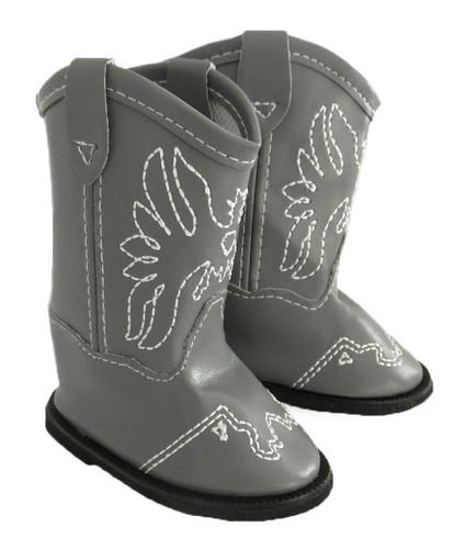 Grey Cowboy Boots for 18 inch dolls