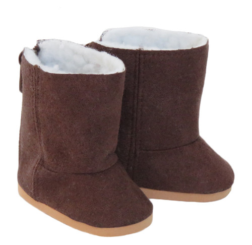 Brown Duggs, shoes for 18 inch dolls