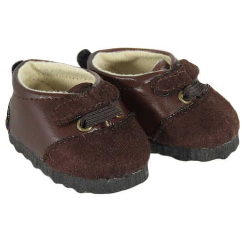 Brown Suede/Pleather Shoes for 18 inch AG dolls