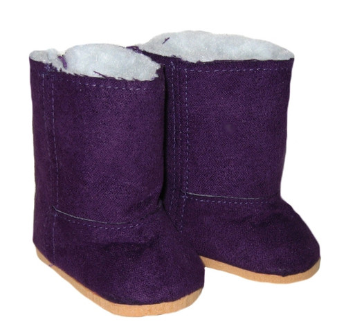 Purple Duggs, boots for 18 inch dolls.