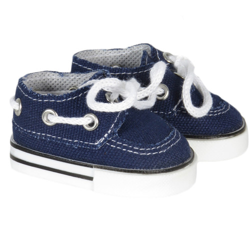 Navy Boat Shoes for 18 inch boy or girl dolls