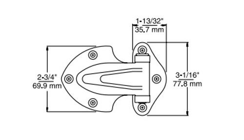 Kason 139 Narrow Flange Hinge 7/8 Inch Offset-2