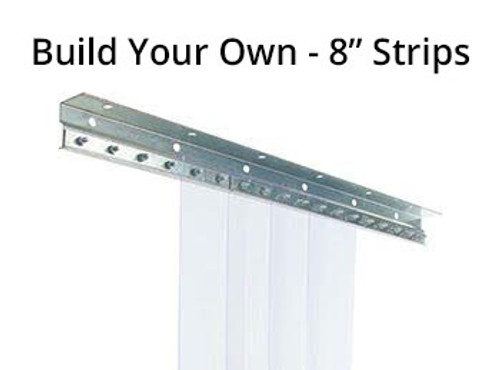 "Build Your Own Strip Curtain Kit - 8"" Strips"