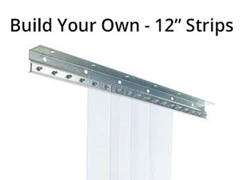 "Build Your Own Strip Curtain Kit - 12"" Strips"