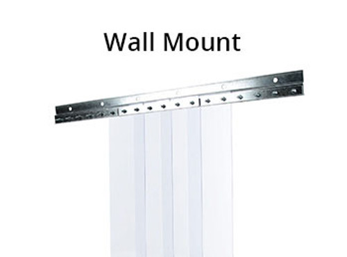 "COOLER, Strip Curtain, Vinyl Strip, PVC, 8"" Wide x 84"" Long Curtains, Wall Mount"