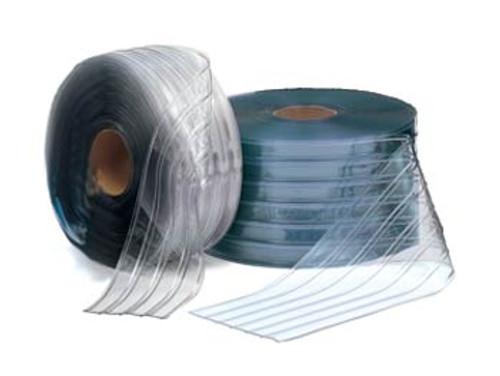 "Bulk Strip Curtain Roll 12"" Freezer Ribbed"