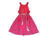 Sophie Catalou Girls Toddler & Kids Fuchsia Check Dress 3-12y