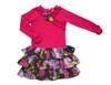 Sample Sale Raspberry / Violet Drop-Waist Dress