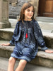 Sophie Catalou Girls Toddler & Kids Indigo Karyn Dress 2-7/18y