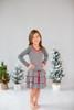Sophie Catalou Girls Infant Toddler & Kids Dark Melange Polka Dot Ruffle Dress 18m-5y
