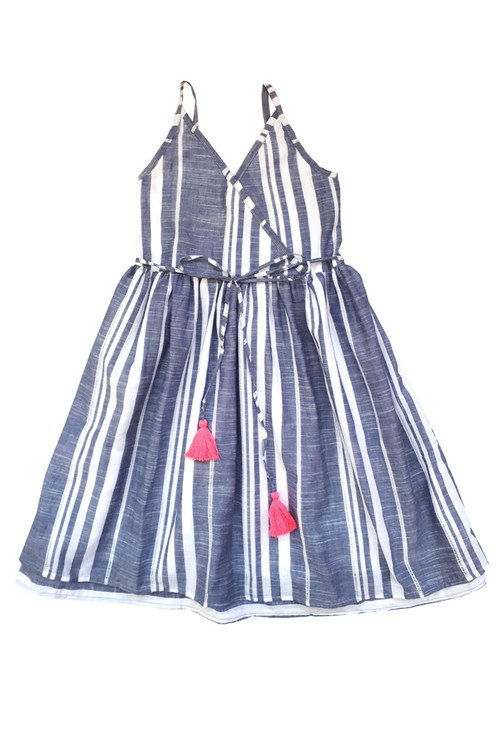Toddler & Kids Eyelet Stripe Dress