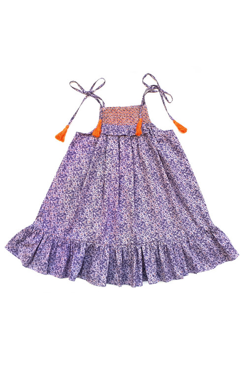 Sophie Catalou Girls Toddler & Kids Lilac floral Dress 2-8y