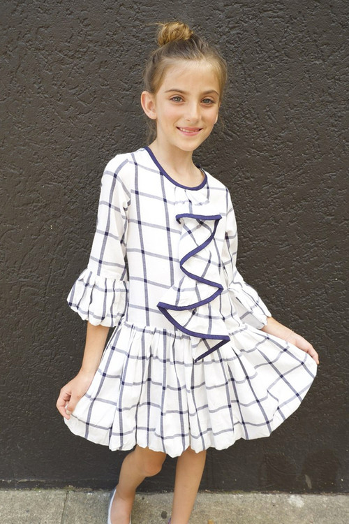 Sophie Catalou Girls Toddler & Kids White Corrine Dress 2-8y