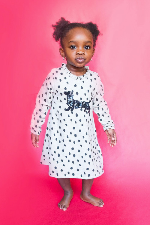 Toddler & Kids Dalmatian Knit Dress