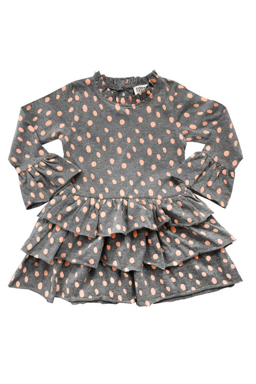 Toddler & Kids Blush Dalmatian Knit Dress
